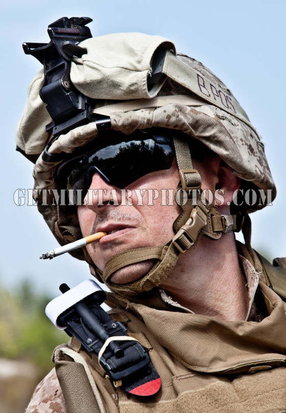 US marine smoking