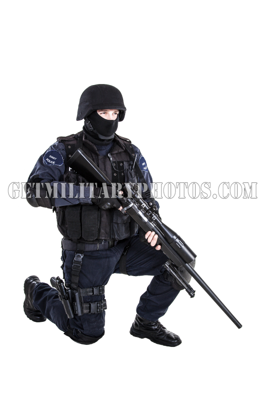 SWAT officer with sniper rifle - S.W.A.T. and police - Military and ...
