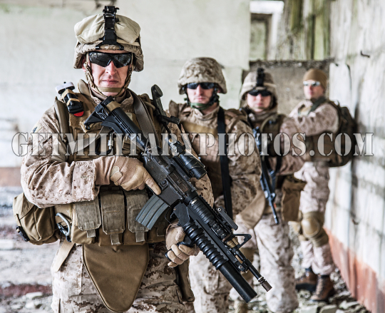 Squad of marines