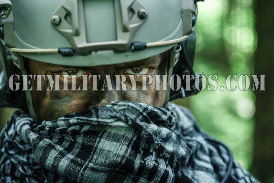 army ranger in the forest