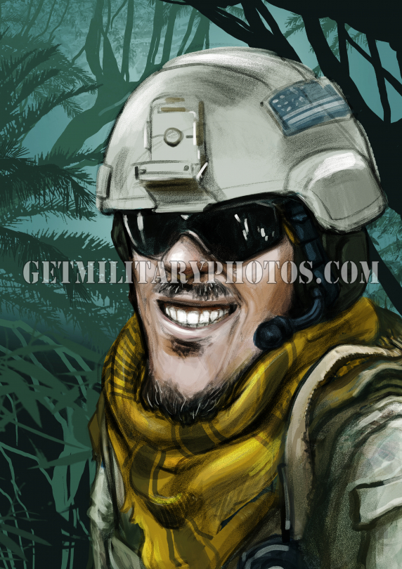 Army special forces soldier cartoon
