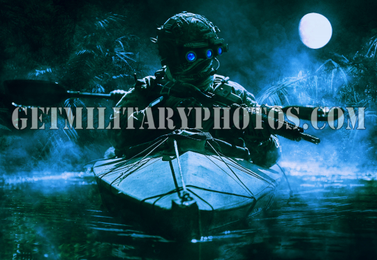 special forces operators with night vision goggles