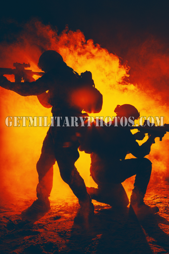 army soldiers attacking