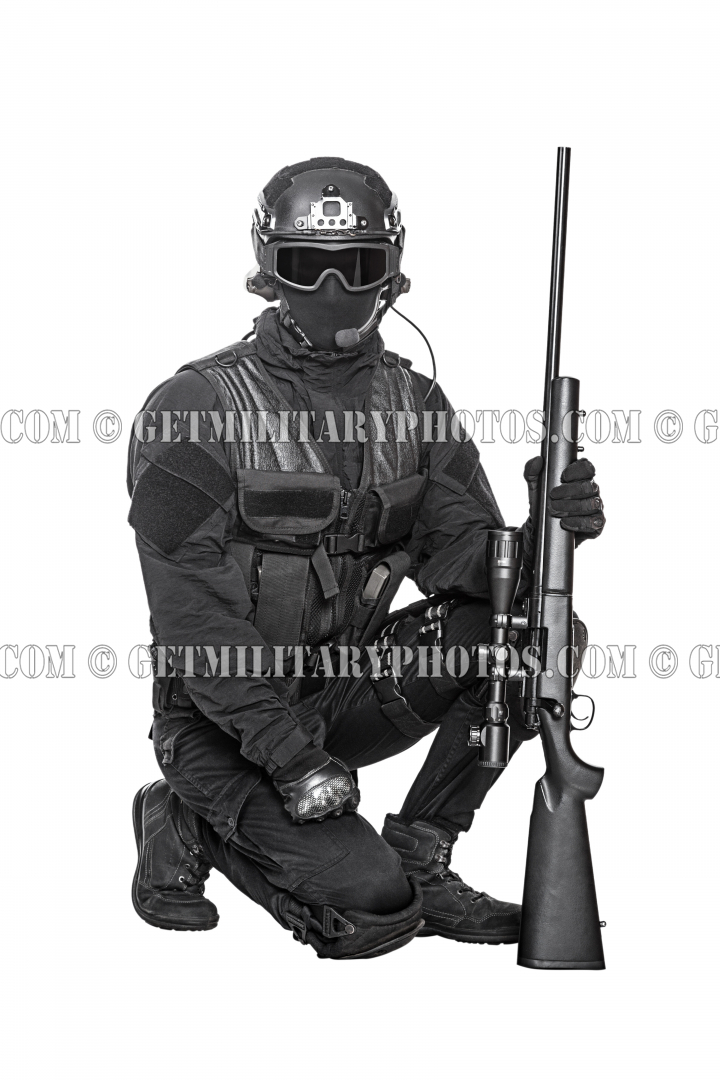 Swat Operator With Sniper Rifle Swat And Police Military And