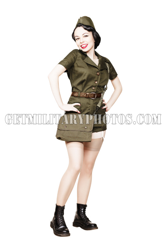 Military pin-up woman