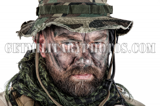 Jungle warfare closeup