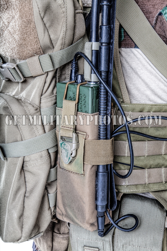 Army radio in the pouch