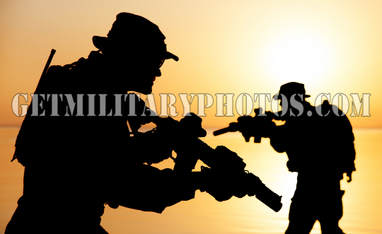 Army soldier silhouettes