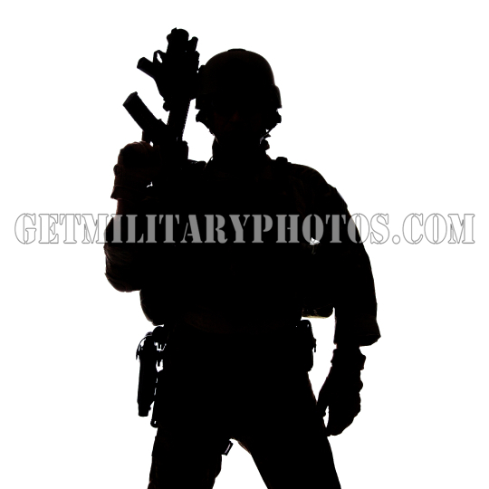 Silhouette of United States Army ranger