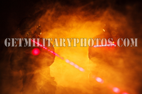 laser sights in the smoke