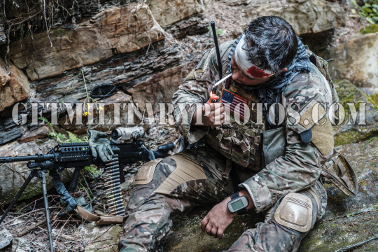 Wounded army ranger