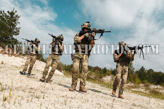 US Army Rangers in the desert