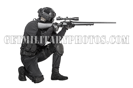 operator with sniper rifle aiming enemy