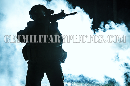 Black silhouette of soldier