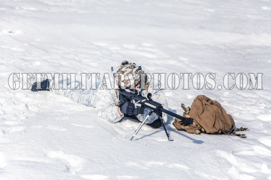 Winter arctic mountains warfare