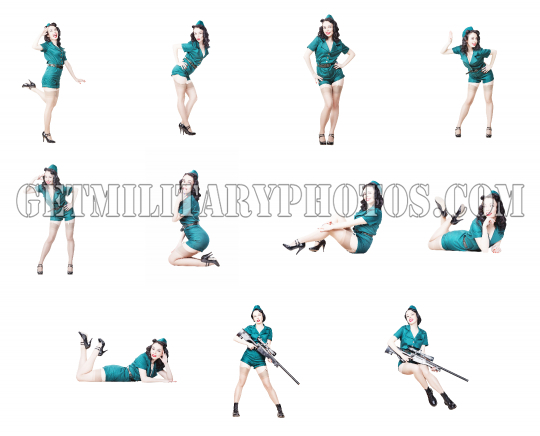 Military pin-up girl collection